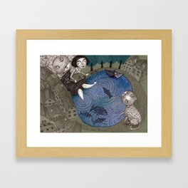 The Fish Pond Framed Art Print