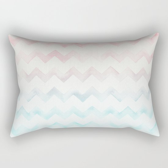 Watercolor Chevron pastel colors Rectangular Pillow
