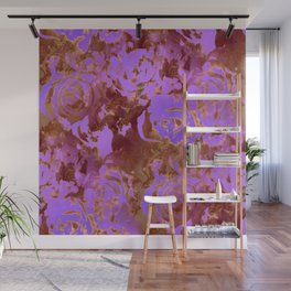 Surreal roses with weird attitude Wall Mural