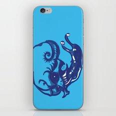 Slug skull iPhone & iPod Skin