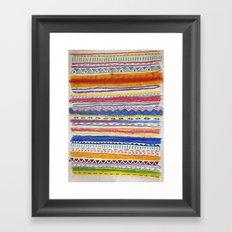 TRIBAL CRAYON / Framed Art Print