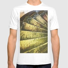 The Artist's Staircase MEDIUM White Mens Fitted Tee