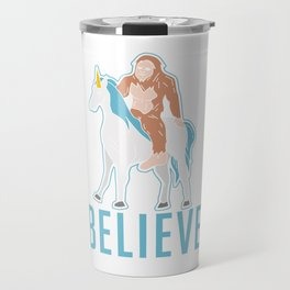 Funny Bigfoot Sasquatch Unicorn Gift Travel Mug