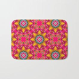 Bright colorful mandala pattern Bath Mat