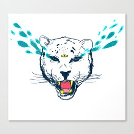 leopard tears Canvas Print