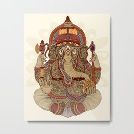Ganesha: Lord of Success Metal Print