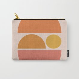 Sleeping Zen Baby - Calm Abstract - Peaches Tans & Oranges Carry-All Pouch