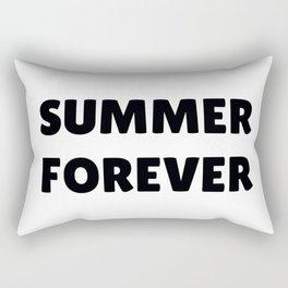 Summer Forever in Black Rectangular Pillow