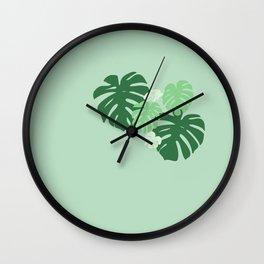 Monstera Jungle Wall Clock