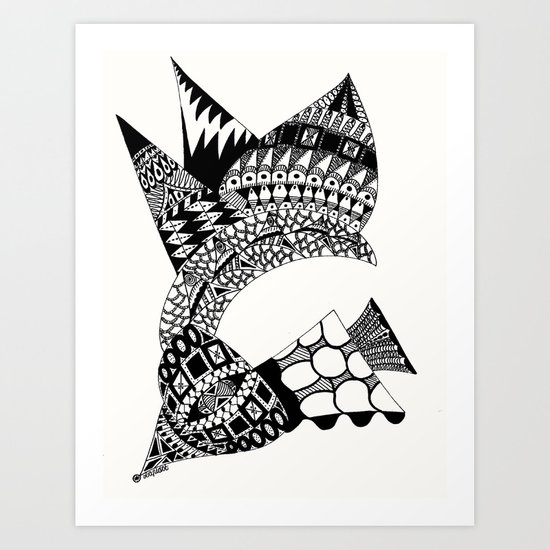Sea Shell Creature Art Print