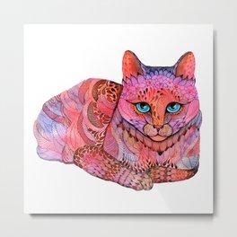 SUNSET CAT Metal Print