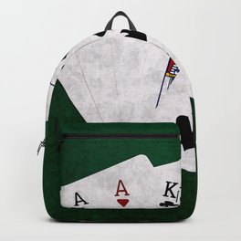 Poker Three Of A Kind Ace King Ten Backpack
