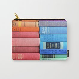 Vintage Book Rainbow Carry-All Pouch