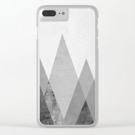 Landscape collage marble XVII Clear iPhone Case