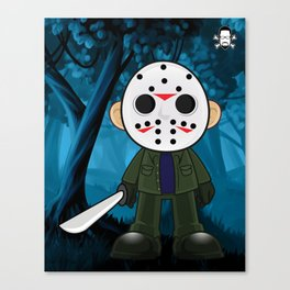 Lil Horror Classics Featuring Jason Vorhees from Friday the 13th Canvas Print