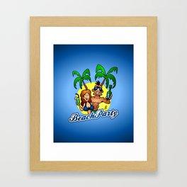 Beach Party Framed Art Print
