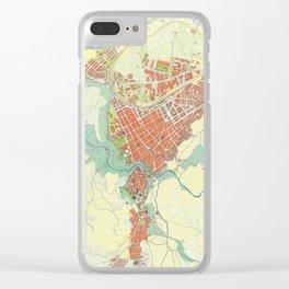Ronda city map classic Clear iPhone Case