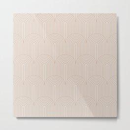 Art Deco Arch Pattern XIV Metal Print