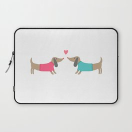 Cute dog lovers in love with heart Laptop Sleeve