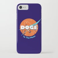 nasa iPhone & iPod Cases featuring Doge Nasa Variant (To The Moon!) by Tabner's