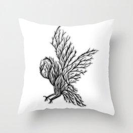 Owl Branches Throw Pillow