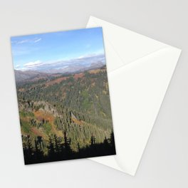 Mountain view shadow trees Stationery Cards