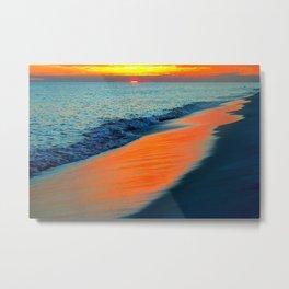 Beach At Dusk Metal Print