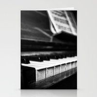 piano Stationery Cards featuring Piano by Monochrome by Juste Pixx