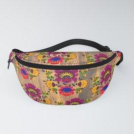 Purple folk flowers pattern Fanny Pack