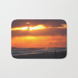 Orange Sunset Bath Mat