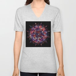 Black Cosmic Mandala Unisex V-Neck