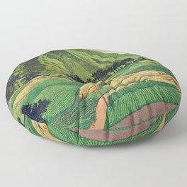 Crossing people's land in Iksey Floor Pillow