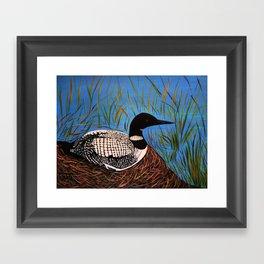 Loon on the Nest  Framed Art Print