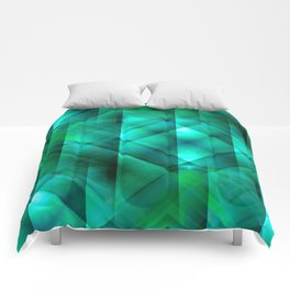 Facets of the Stone (emerald) Comforters