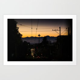 Capitol Hill at Dusk Art Print