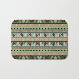 Meander Pattern - Greek Key Ornament #1 Bath Mat