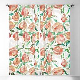 Watercolor Peaches Blackout Curtain