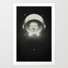 Space Kitty Art Print
