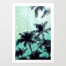 Night Sky in Cali Art Print