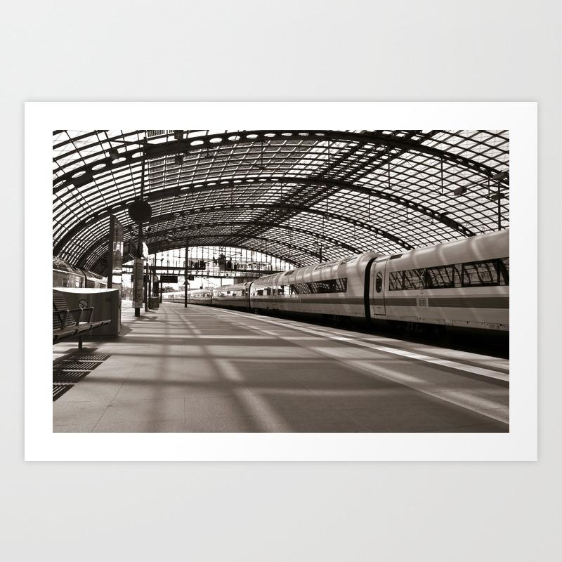 Train Station Of Berlin Art Print By Captainsilva Society6