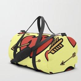 Heart background Duffle Bag