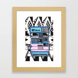 Aztec Polariod Framed Art Print