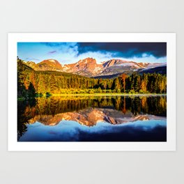 Rocky Mountain Peak Landscape - Estes Park Colorado Art Print