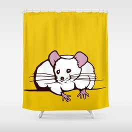 Fat mouse Shower Curtain