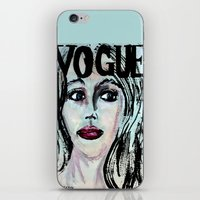 vogue iPhone & iPod Skins featuring Vogue by Kayla Bortolotto