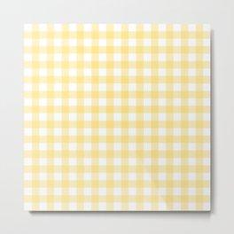 Yellow gingham pattern Metal Print