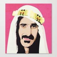 zappa Canvas Prints featuring ZAPPA! by f_e_l_i_x_x