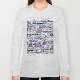 All The Presidents Signatures Blue Rose Long Sleeve T-shirt