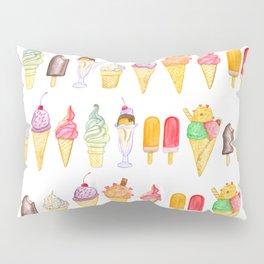 Watercolour Ice Cream Pillow Sham