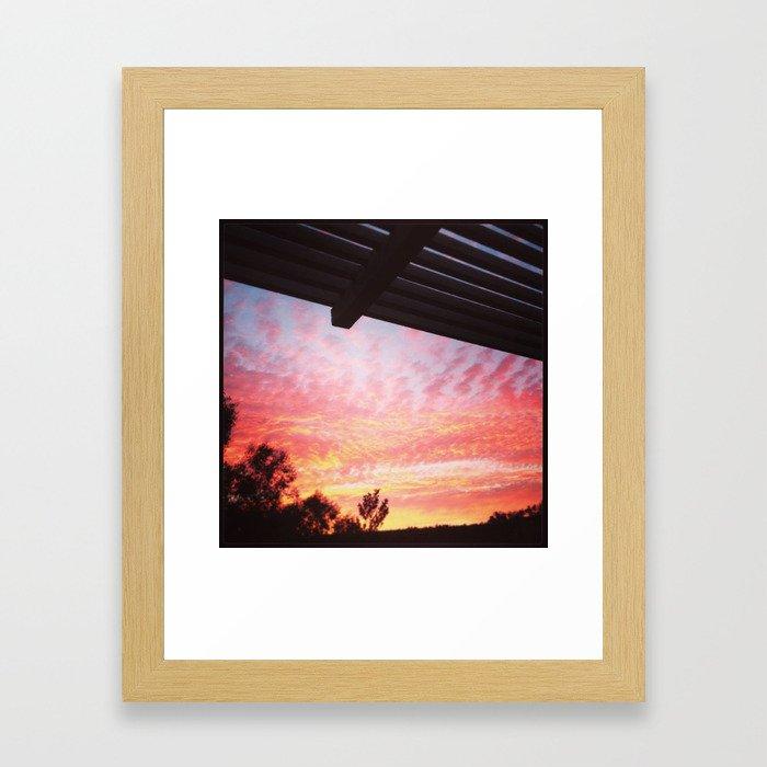 Dana Point Sunset Framed Art Print